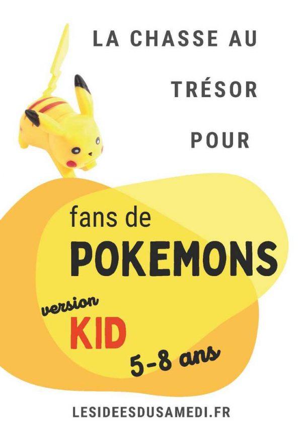 chasse au tresor pokemon anniversaire kid