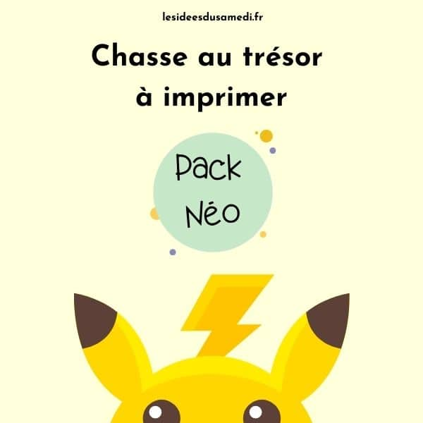 chasse au tresor pokemon pack neo