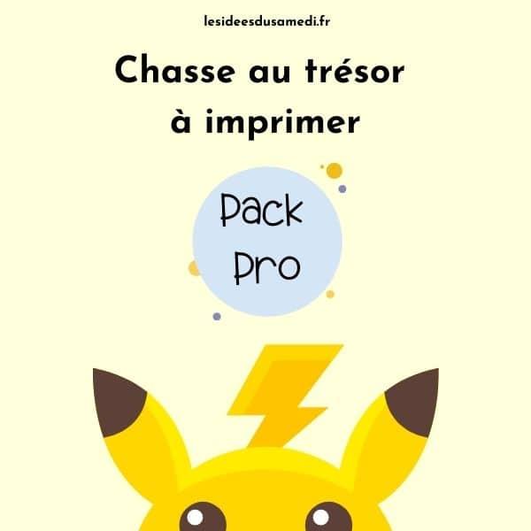 chasse au tresor pokemon pack pro