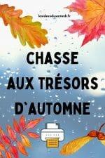 chasse aux trésors automne à imprimer