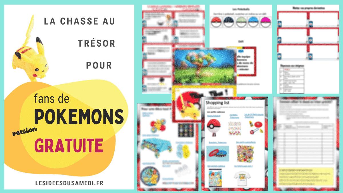 vision pages chasse au tresor pokemon gratuite