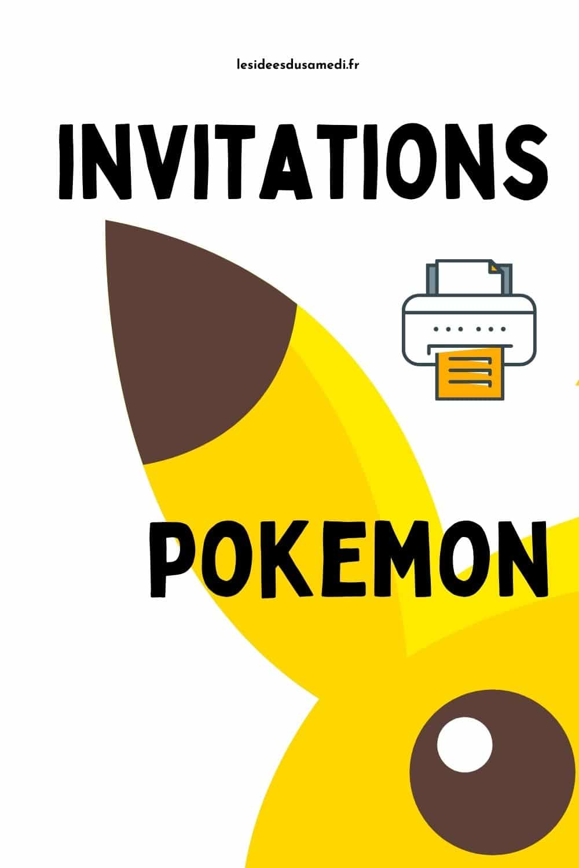 pinterest invitations pokemon
