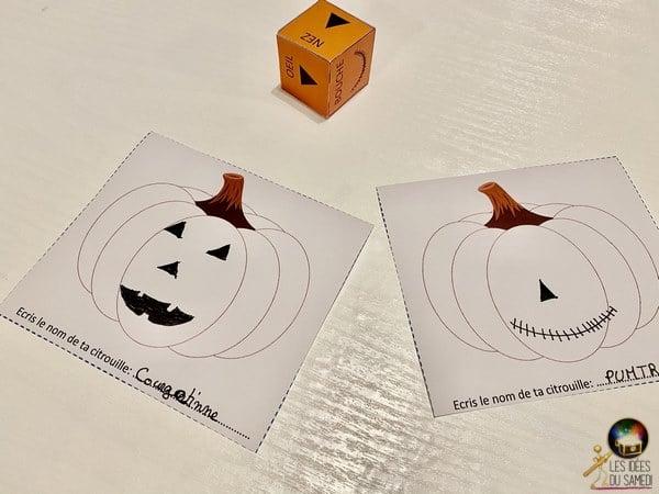 jeu halloween imprimer citrouille qui rit