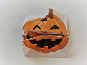 pliage citrouille halloween