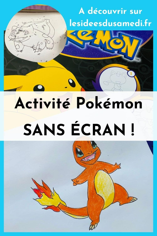 livre dessin activite pokemon sans ecran