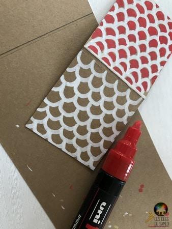 dessiner tuiles bicolores toit avent