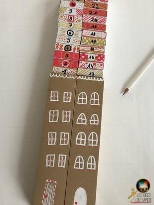 glisser boites allumettes dans calendrier