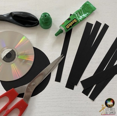 araignee halloween recyclage cd