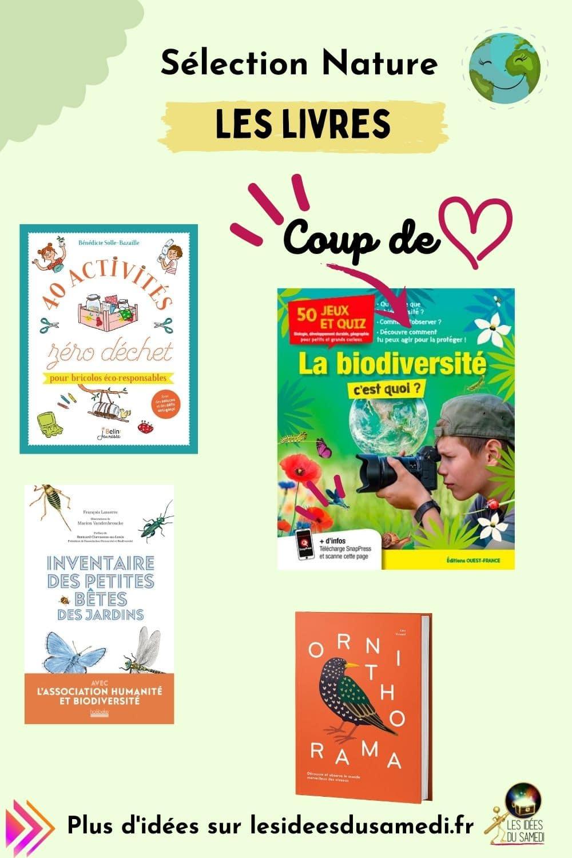 selection cadeaux nature livres