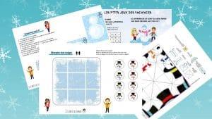 cahier jeux imprimer gratuit vacances hiver