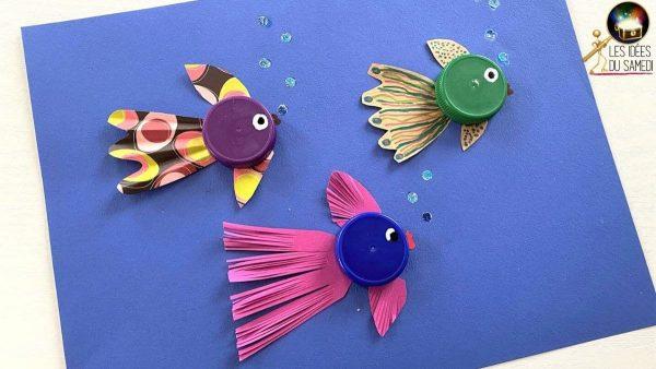 fabriquer poissons bouchon bouteille plastique lesideesdusamedi