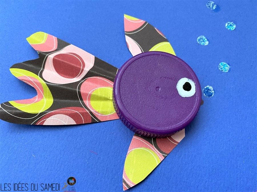 poisson bouchon bouteille violet