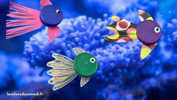 poissons bouchon bouteille plastique fond anemone de mer