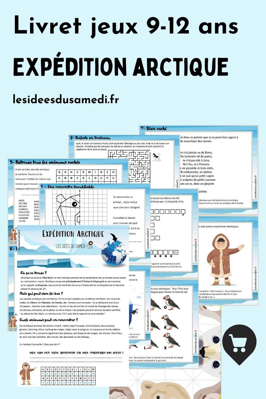cahier jeux à imprimer sur l'arctique