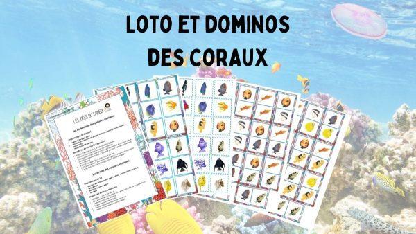 domino loto poissons jeux imprimer