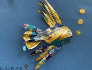 fabriquer poisson papier 3D