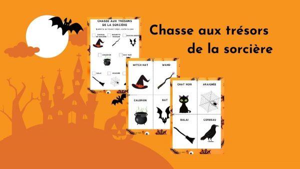 chasse sorciere gratuite halloween enfants